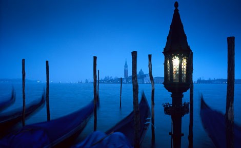 Venice Italy open water boats
