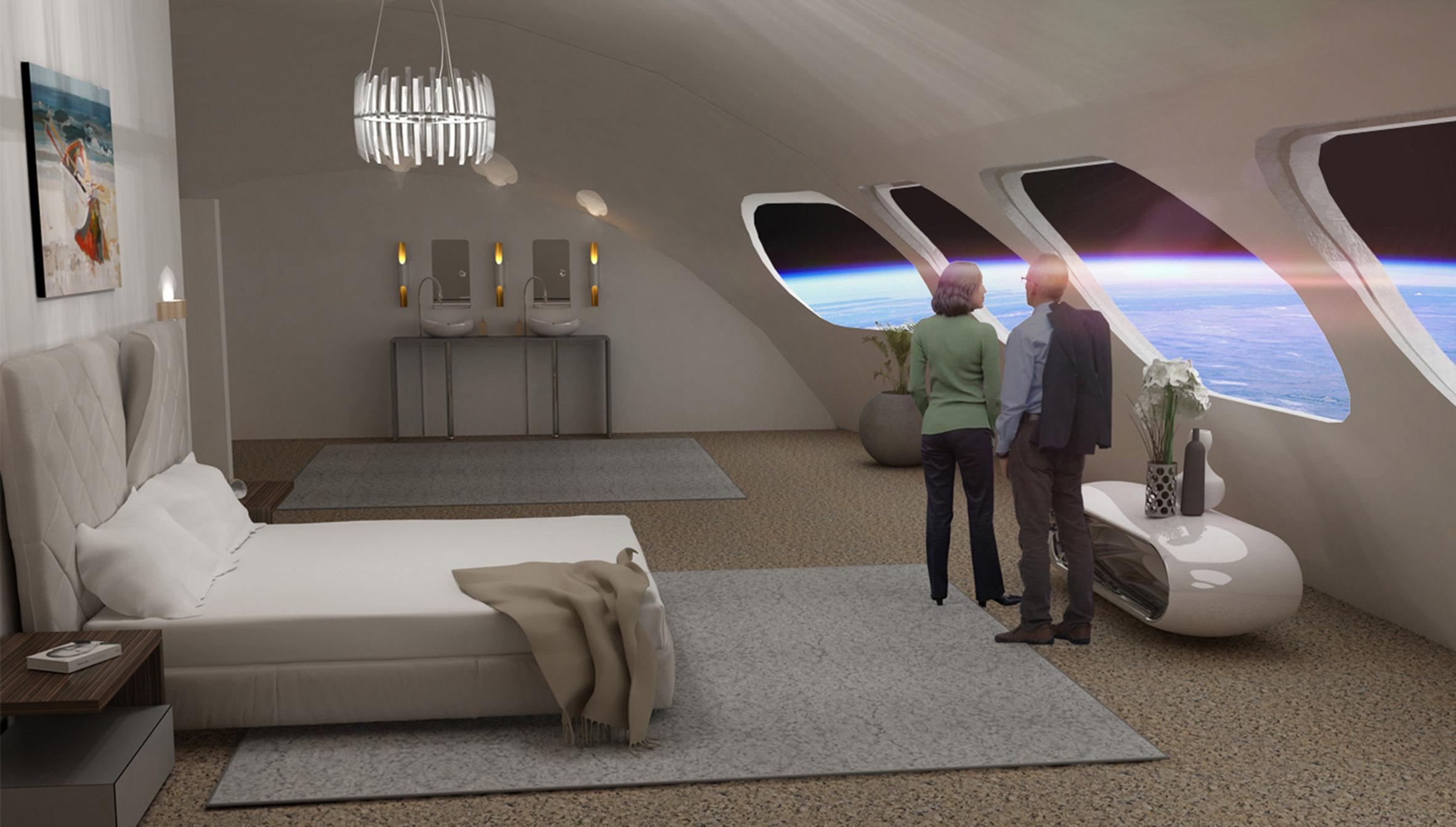 Voyager Station Space Hotel bedroom